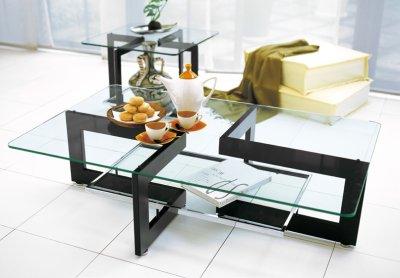 画像1: 【アルテジャパン】ガラステーブルLiving table YG-17【送料無料】