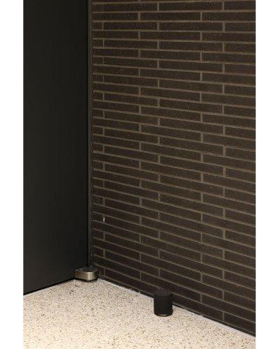 画像1: アルミ+ゴム グレー戸当り(1ヶ)/全長:φ45×53mm