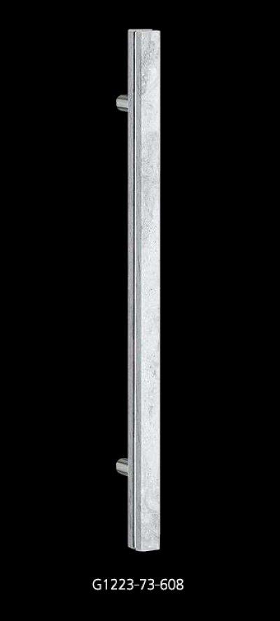 画像1: レジンストーン ホワイトマーブル +ブラス クロムハンドル(両側タイプ)/全長:600mm