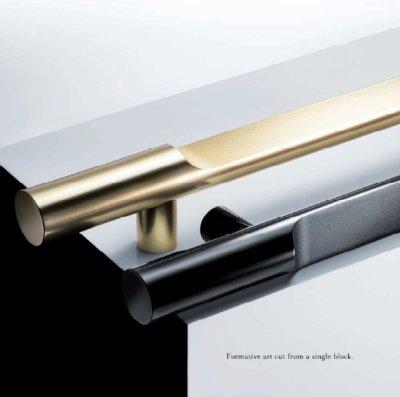 画像2: アルミ ペイルゴールド +ユニフロストペイルゴールドハンドル(両側タイプ)/全長:600mm