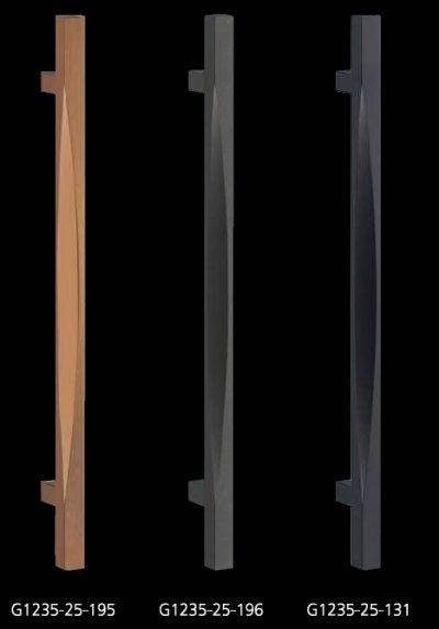 画像1: アルミ ヘアライン +ミラーアッシュゴールドハンドル(両側タイプ)/全長:600mm