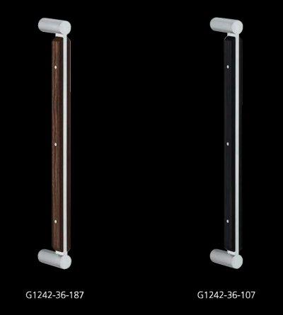 画像2: ユニウッド スコッチ +ステンレス ヘアラインハンドル(両側タイプ)/全長:450mm