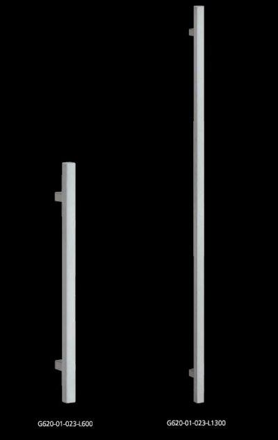 画像1: ステンレス ヘアラインハンドル(両側タイプ)/全長:600mm