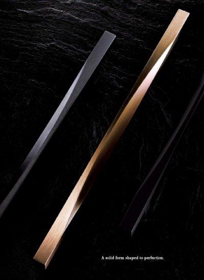 画像2: アルミ ヘアライン +ミラーアッシュゴールドハンドル(両側タイプ)/全長:600mm
