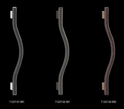 画像2: ブレイドレザー ブラック +ステンレス ブラックペイントハンドル(両側タイプ)/全長:606mm