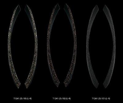 画像1: ユニキャスト ユニフロストブラック +ペイルゴールドハンドル /1セット(内外)/全長:680mm