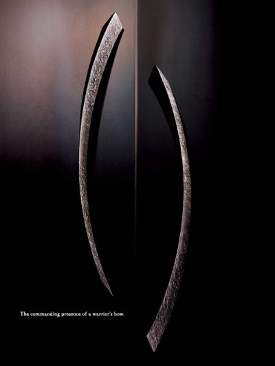 画像2: ユニキャスト ユニフロストブラック +ペイルゴールドハンドル /1セット(内外)/全長:680mm