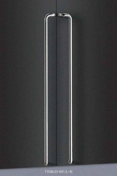 画像1: ステンレス ミラーハンドル(両側タイプ)/全長:1300mm
