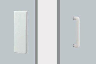 画像1: アクリル ホワイトハンドル(両側タイプ)/全長:80×250mm