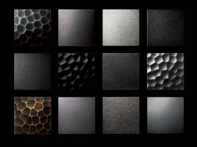 画像1: ステンレス ストーンブラストシルバー+アルミ ユニフロストシルバーペイントハンドル(両側タイプ)/100×100mm