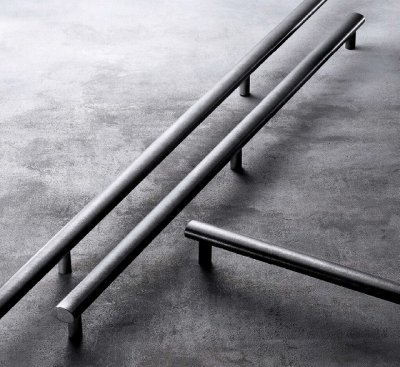 画像2: ステンレス ストーンブラストハンドル(両側タイプ)/全長:600mm