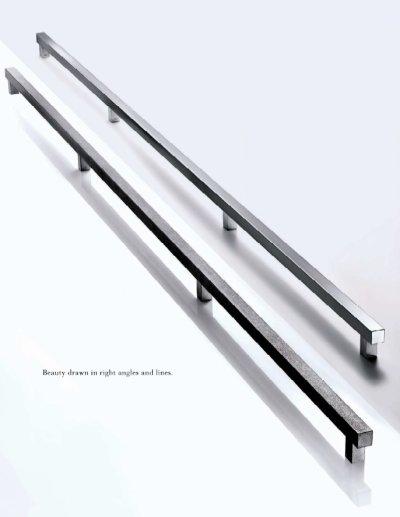 画像2: ステンレス ヘアラインハンドル(両側タイプ)/全長:2085mm