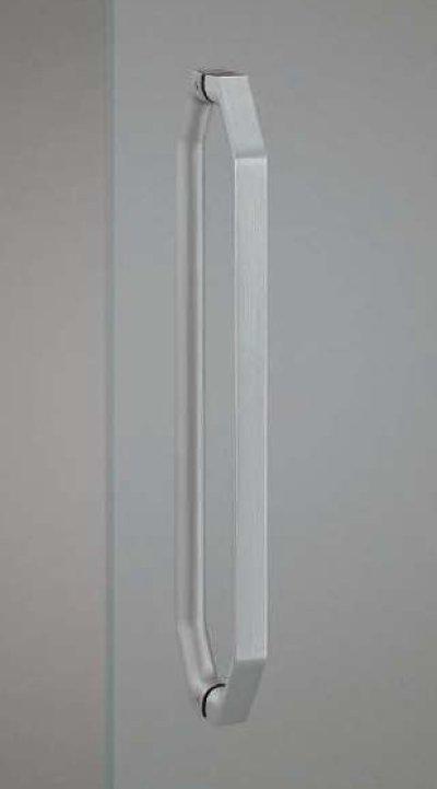 画像1: ユニキャスト ストーンブラストシルバーハンドル(両側タイプ)/全長:500mm