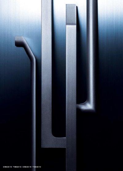 画像2: ユニキャスト ヘアラインシルバー +ユニフロストシルバーハンドル(両側タイプ)/全長:500mm