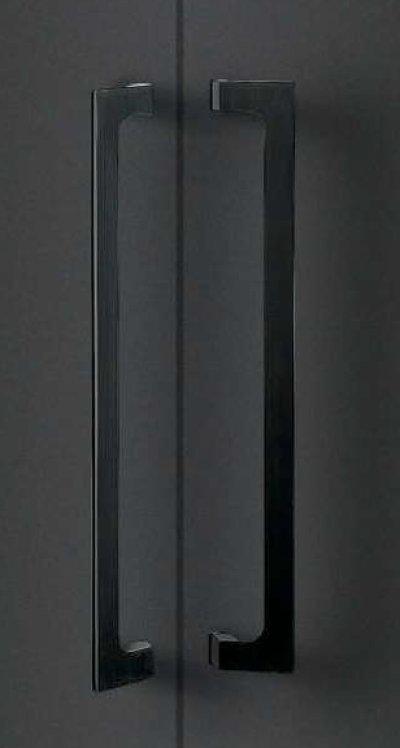 画像1: ユニキャスト ヘアラインブラック +ユニフロストブラックハンドル(両側タイプ)/全長:500mm