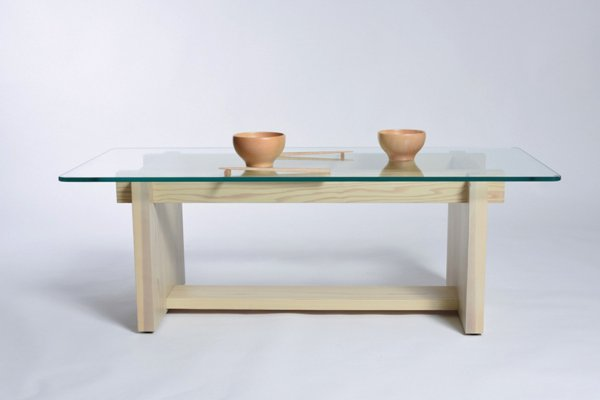 画像1: 日本の木:リビングテーブルKumiko 《日本製》 【送料無料】 (1)