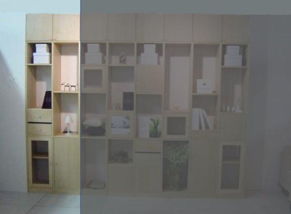 画像1: システム壁面収納家具【メイプル】 大きさ組合せ自由ユニット家具 FIX Standerd(スタンダード)MA バージョンNO.3 (1)