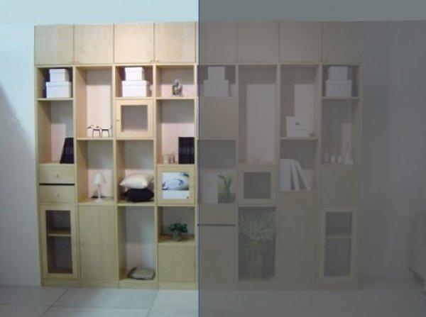 画像1: システム壁面収納家具【メイプル】 大きさ組合せ自由ユニット家具 FIX Standerd(スタンダード)MA バージョンNO.1 (1)