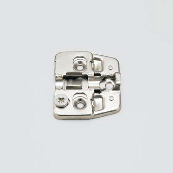 画像1: マウンティングプレート 150-P4W型 厚み:0mm ワンタッチスライド丁番 151シリーズ用 (1)