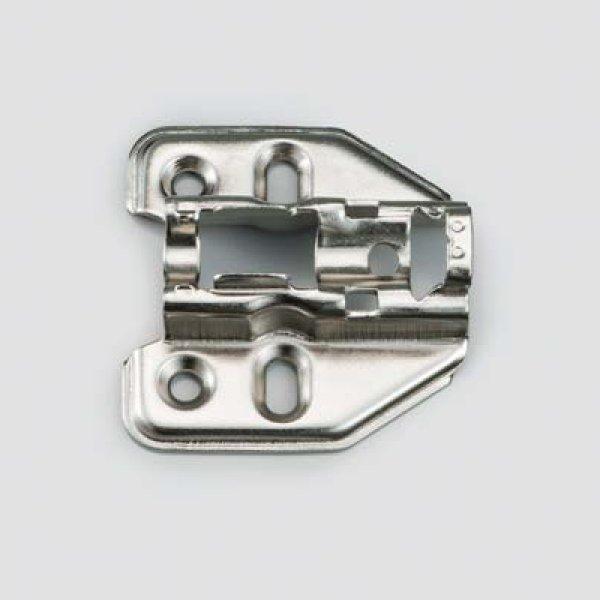 画像1: マウンティングプレート 150-P4W型 厚み:9mm ワンタッチスライド丁番 151シリーズ 7mmかぶせ用 (1)