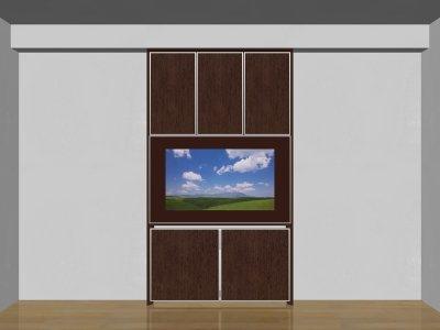 画像1: 省スペース薄型テレビボード SLIMO