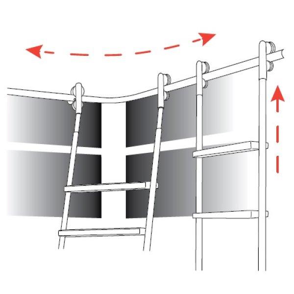 吊元伸縮コーナー梯子