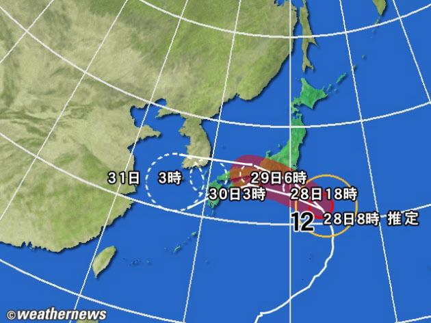 台風のルート,台風10号のルート,異例の台風のルート