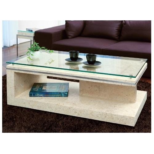 ガラステーブル,センターテーブル,コーヒーテーブル,マクタンストーン