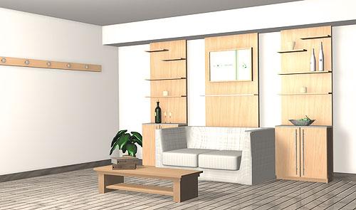 天然素材,ウォールナット材,モダン,壁面収納家具,システム壁面収納家具,リビング壁面家具,TVリビングボード,オーダー壁面収納家具,テレビリビング壁面収納家具,フリーボード
