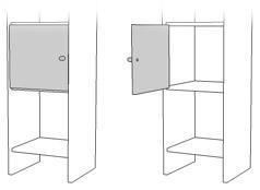 ドアパーツ,壁面収納家具、システム収納家具、リビング壁面収納家具