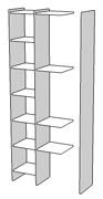 スタンドパネル,壁面収納家具,システム収納家具,リビング壁面収納家具