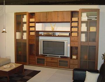 壁面収納家具,リビングボード,キャビネット,システム壁面収納家具,オーダー壁面収納家具,別注オーダー家具,フリーボード,シンプル,ウォールナット材