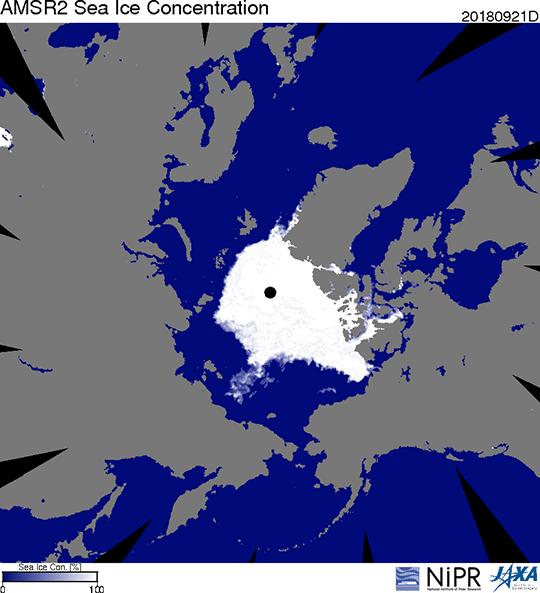 北極の氷河,地球温暖化の影響