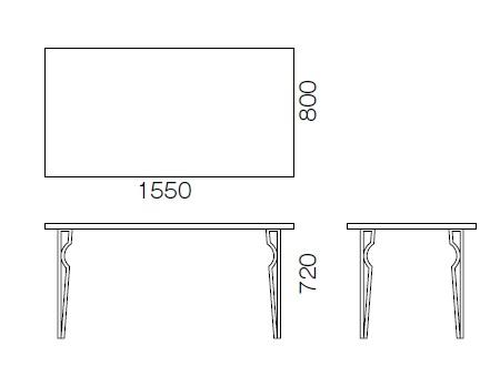 詳細図,ダイニングテーブル,食卓テーブル,金属脚テーブル