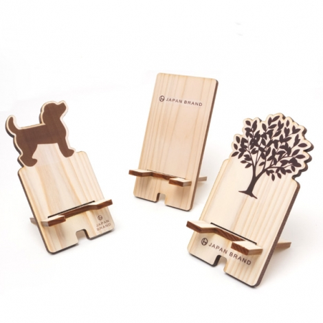 オリジナルスマホスタンド,木製オリジナルスマホスタンド,杉オリジナルスマホスタンド,ギフト,ノベルティ