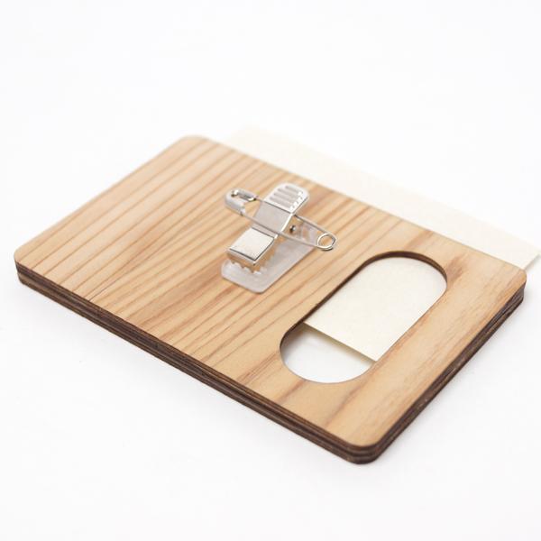 ネームケース,木製ネームケース裏面クリップタイプ,ギフト,ノベルティ