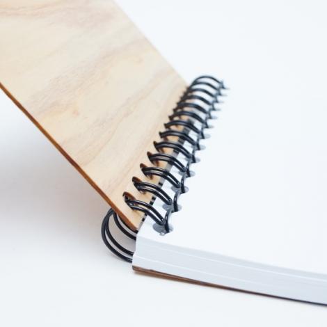 B7リングノート,木製B7リングノート,ギフト,ノベルティ