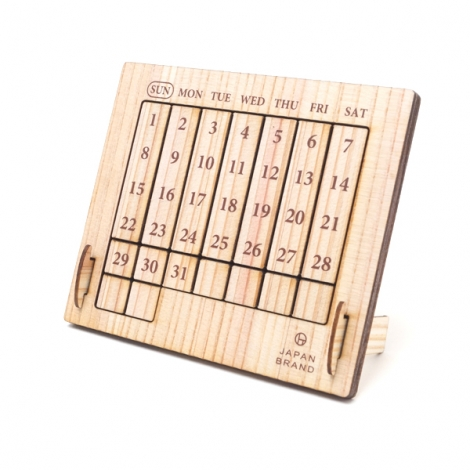 万年カレンダー,木製万年カレンダー,ギフト,ノベルティ
