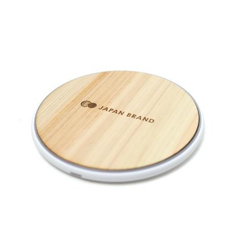 木製ワイヤレス充電器(丸型),ギフト,ノベルティ