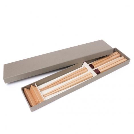 箸&箸置き2組セット(タモ),ギフト,ノベルティ