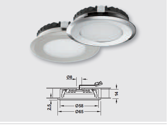 LED照明器具,LEDダウンライト照度
