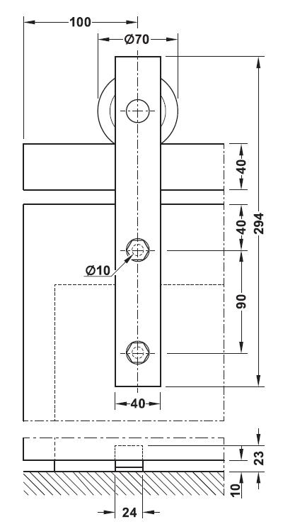 木製引戸金具図,スライド,スライド金具図,加工寸法図
