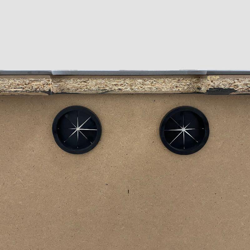 edl-150,EDEL,エーデル,薄型テレビボード,配線孔(裏面)