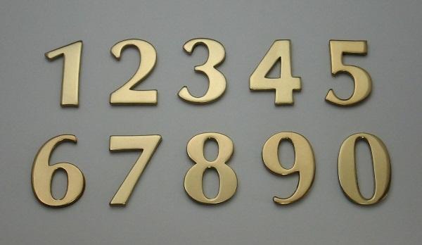 ナンバープレート,ロッカー用のナンバープレート,個別数字タイプ,オプティマ,真鍮