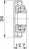 着脱式フルエクステンション・スライドレール,引き出しレール,横付・底付引き出しレール,一般家具用引き出しレール,ユニクロメッキ